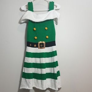 NWT Elf Knit Costume Holiday Party Dress